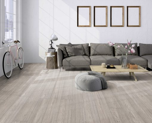 LE06 - ter Hürne Oak Slate Grey Laminate Long Plank - Living Room
