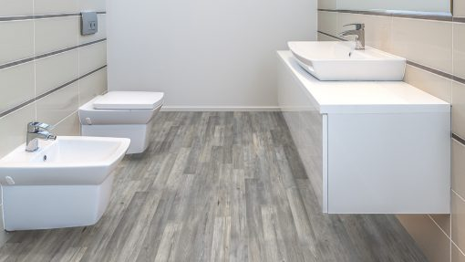 LE07 - ter Hürne Elm Light Grey Laminate 2-Strip - Bathroom