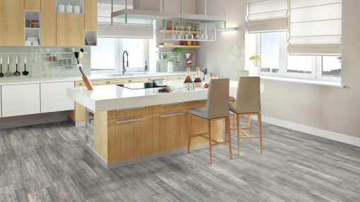 LE07 - ter Hürne Elm Light Grey Laminate 2-Strip - Kitchen