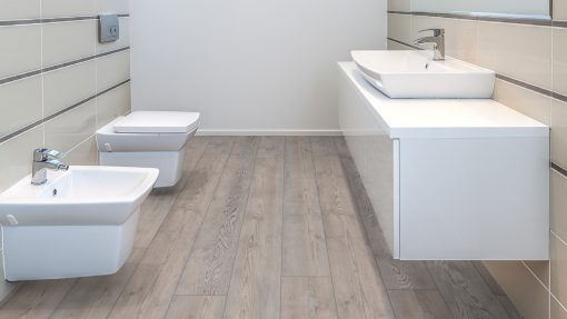 LE11 - ter Hürne Pine Grey Laminate Long Plank - Bathroom