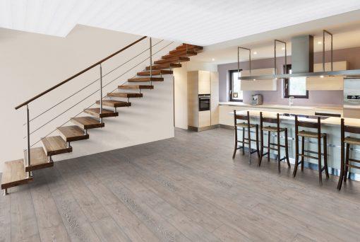 LE11 - ter Hürne Pine Grey Laminate Long Plank - Kitchen