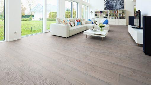 LE11 - ter Hürne Pine Grey Laminate Long Plank - Living Room