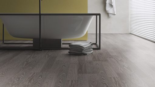 LE12 - ter Hürne Oak Anthracite Laminate 2-Strip - Bathroom