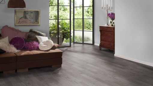 LE12 - ter Hürne Oak Anthracite Laminate 2-Strip - Bedroom