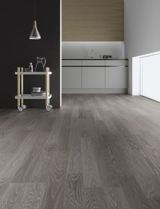 LE12 - ter Hürne Oak Anthracite Laminate 2-Strip - Kitchen