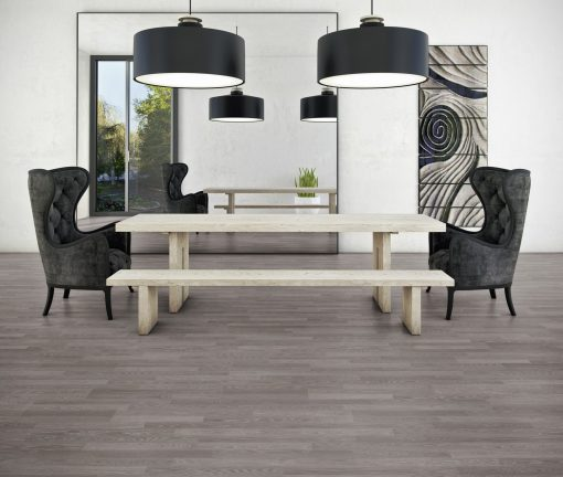 LE12 - ter Hürne Oak Anthracite Laminate 2-Strip - Living Room
