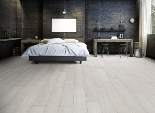 LA01 - ter Hürne Oak White Grey Laminate Wide Plank - Bedroom