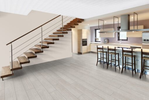 LA01 - ter Hürne Oak White Grey Laminate Wide Plank - Kitchen