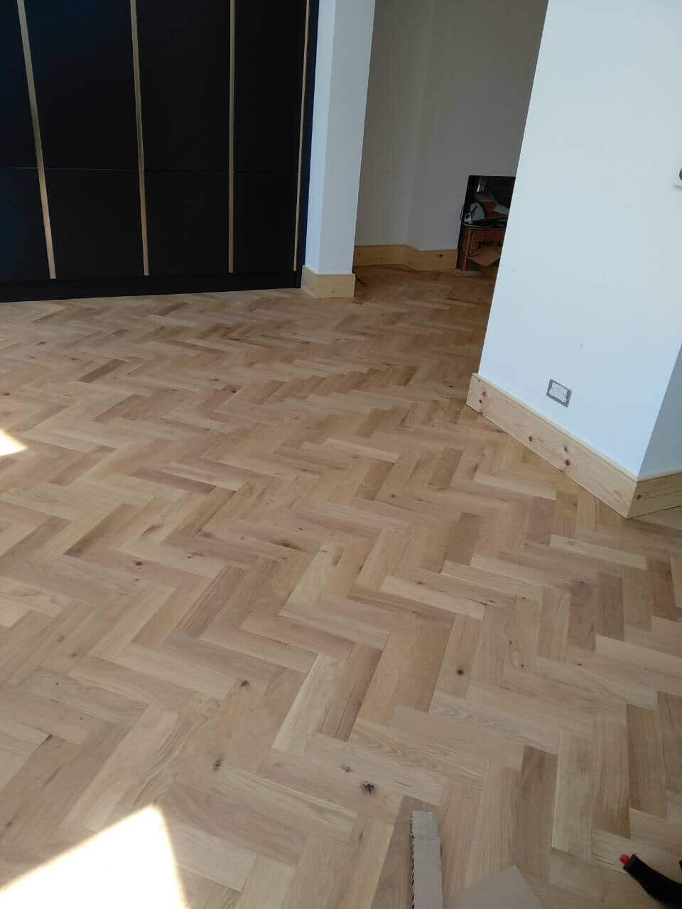 Solid Oak Herringbone Wood Blocks London Stock 70 X 18
