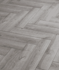 Grey Laminated oak herringbone wood blocks