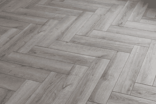 Grey Laminated oak herringbone wood blocks