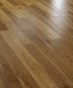 Solid Golden Oak Wood Flooring Sculptured Golden Handscraped 125mm